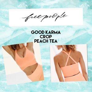New Free people good karma crop